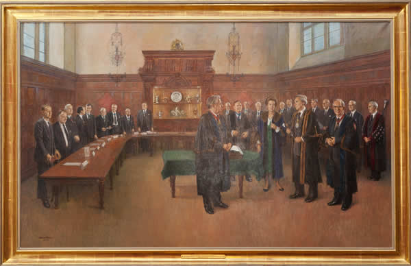 Portrait of the Court with HRH The Princess Royal